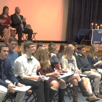 NCHS students at National Honor Society ceremony
