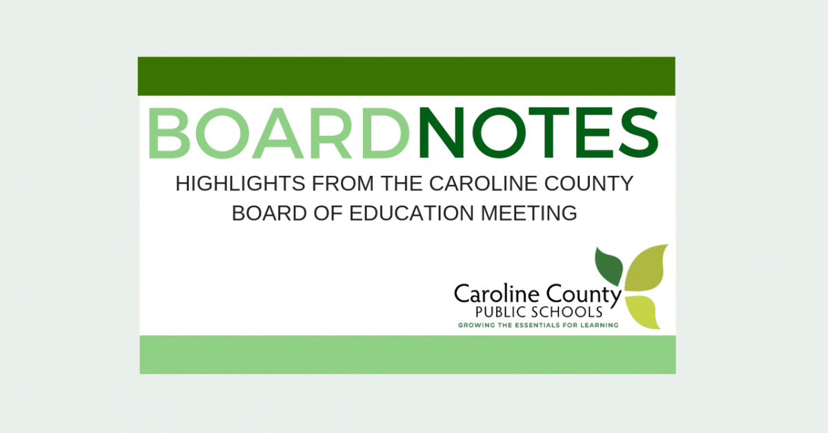 Masthead for Board Notes