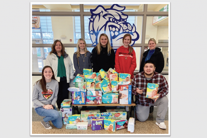 North Caroline High School students present diapers
