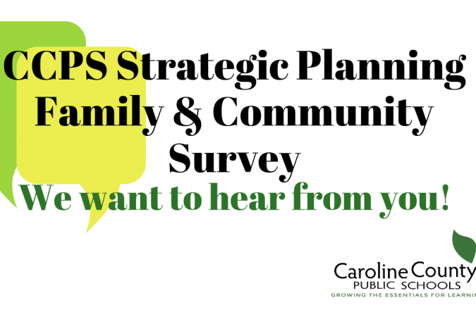 Graphic to advertise the Strategic Plan Survey