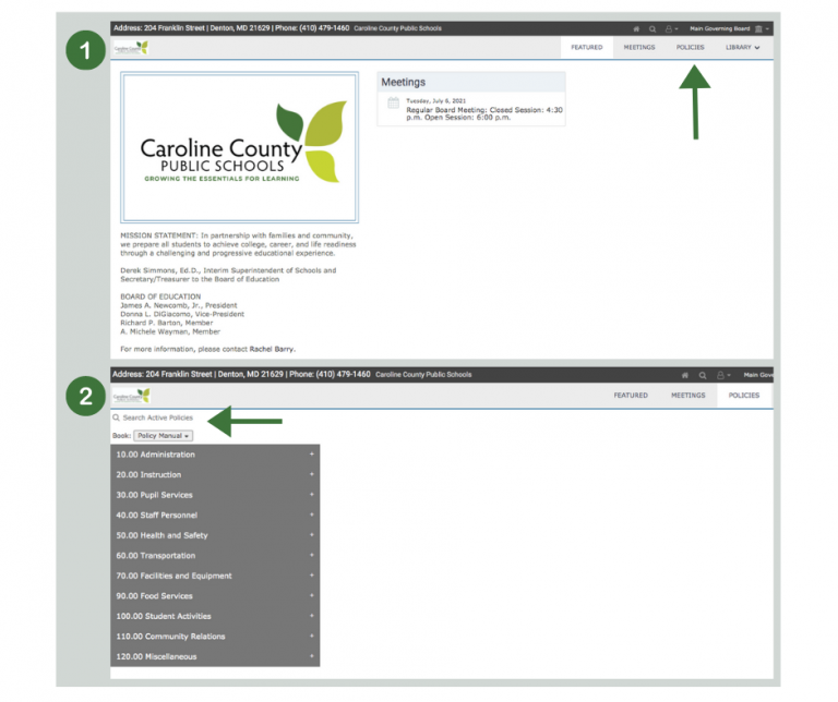 view of how to access policies